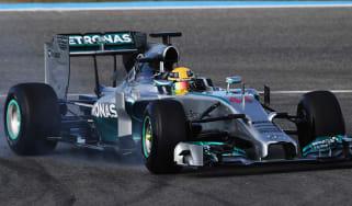 Lewis Hamilton Mercedes F1 testing Jerez
