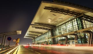 Hamad International Airport in Doha is Qatar's main aviation hub