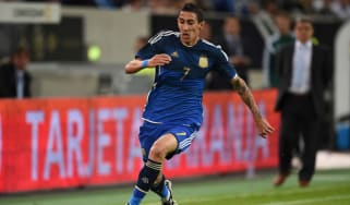 Angel di Maria during the match with Germany