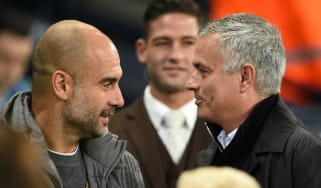 Man City manager Pep Guardiola and Tottenham boss Jose Mourinho