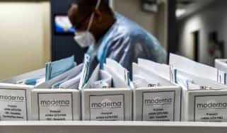Scientist working on the Moderna coronavirus vaccine