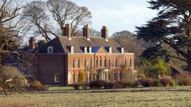 A general view of the front of Anmer Hall on the Sandringham Estate