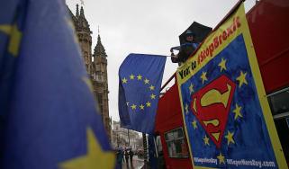 Anti-Brexit demonstrators in London