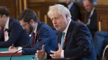 Boris Johnson chairs the weekly cabinet meeting at the Foreign, Commonwealth and Development Office.
