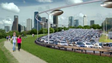 SkyTran hover cars