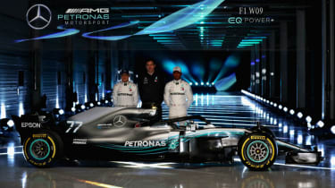 Mercedes W09 car launch F1 2018