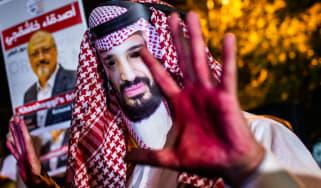 Mohammed bin Salman mask