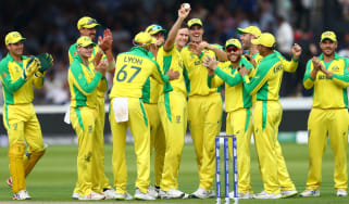 Australia bowler Jason Behrendorff celebrates his five-wicket haul against England at Lord's