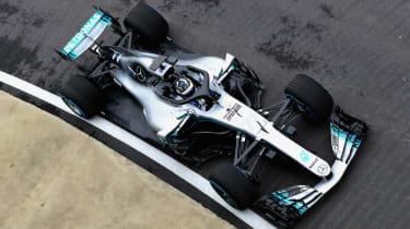 Mercedes W09 car launch F1 2018