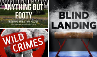 Clockwise from top left: Anything but Footy, Blind Landing and the Natural History Museum's Wild Crimes
