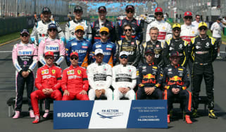 The class of 2019 line up before the first grand prix of the season in Australia