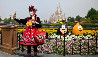 A woman at Disneyland Shanghai