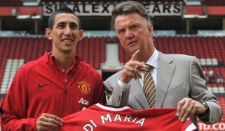 Angel di Maria and Louis van Gaal