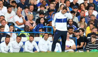 Chelsea were held to a 1-1 draw in Frank Lampard's first game as manager at Stamford Bridge