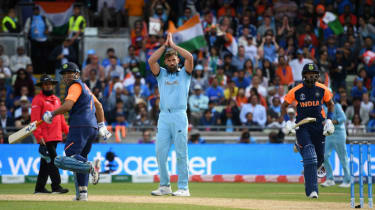 England bowler Liam Plunkett played a starring role in the victory against India