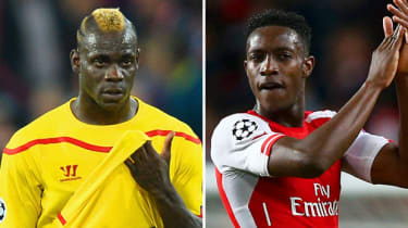 Mario Balotelli and Danny Welbeck