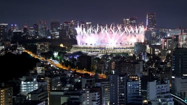 Fireworks erupt over Tokyo's Olympic Stadium as the Games come to a close