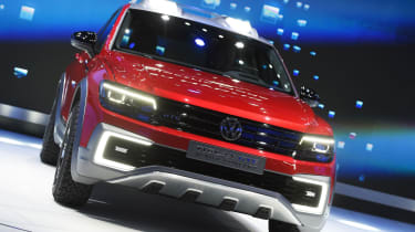 Volkswagen Tiguan GTE Active Concept SUV is unveiled during the press preview of the 2016 North American International Auto Show in Detroit, Michigan, on January 11, 2016. AFP PHOTO/JEWEL SAM