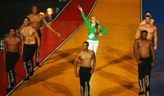 Genevieve Lacaze of Australia on stage during the Closing Ceremony