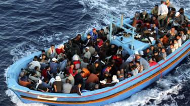 A boat near Lampedusa, Italy