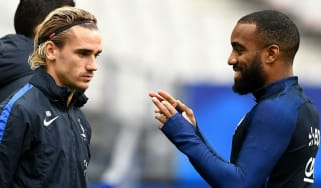 Antoine Griezmann and France international team-mate Alexandre Lacazette