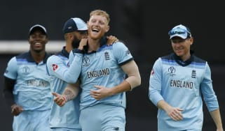 England all-rounder Ben Stokes celebrates taking a wicket in the Cricket World Cup
