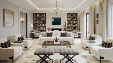 Living room at The OWO Residences by Raffles
