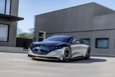 Mercedes-Benz VISION EQS, IAA 2019, der VISION EQS zeigteinen Ausblick auf ein Konzept eines vollelektrischen Fahrzeugs der Luxusklasse. // Mercedes-Benz VISION EQS, IAA 2019, the VISION EQS