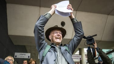 Environmentalists celebrate in The Hague