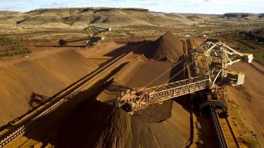 A Rio Tinto iron ore mine in Western Australia's Pilbara region