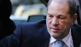 NEW YORK, NEW YORK - FEBRUARY 24: Harvey Weinstein enters a Manhattan court house as a jury continues with deliberations in his trial on February 24, 2020 in New York City. On Friday the judg