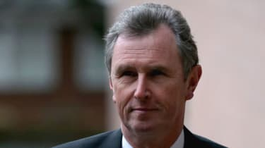 Former Deputy Speaker Nigel Evans arriving at Preston Crown Court