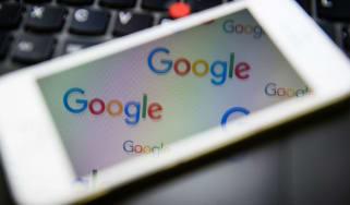 Google logo on iPhone