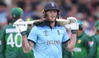 England batsman Ben Stokes reacts after his dismissal in the defeat against Pakistan