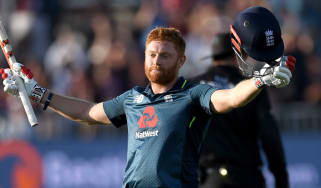 England batsman Jonny Bairstow celebrates reaching his century against Pakistan in Bristol