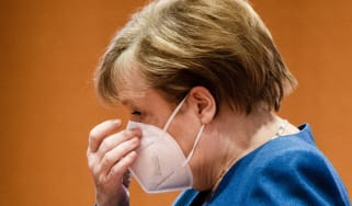 German Chancellor Angela Merkel  arrives for the beginning of the weekly meeting of the German Federal cabinet.