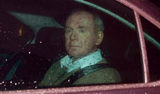 BELFAST, NORTHERN IRELAND - JANUARY 09: Martin McGuinness leaves Stormont Castle today following his resignation as Northern Ireland Deputy First Minister on January 9, 2017 in Belfast, North