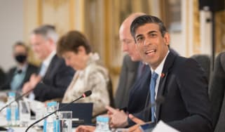 Rishi Sunak chairs meeting of the G7 finance ministers at Lancaster House