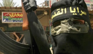 A member of Palestinian militant group Islamic Jihad pictured in 2004