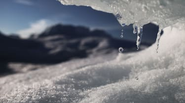 The melting ice sheet in Greenland