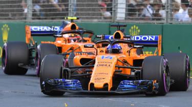 McLaren Formula 1 Fernando Alonso Stoffel Vandoorne