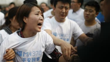 Relatives of the people on board flight MH370