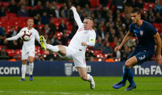 Wayne Rooney in his final game for England