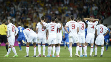 England go out on penalties at Euro 2012