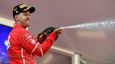 Sebastian Vettel celebrates winning the Monaco Grand Prix