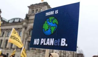 Climate change protestors in Berlin