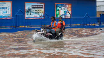 Flooded streets in Port-au-Prince