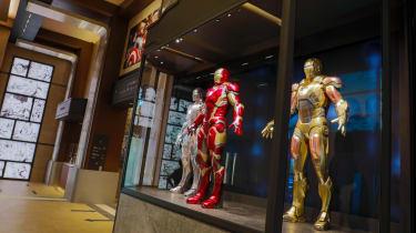 The lobby at Disney's Hotel New York - The Art of Marvel