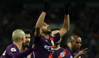 Manchester City winger Riyad Mahrez scored the winning goal against Tottenham at Wembley