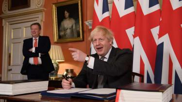 David Frost and Boris Johnson
